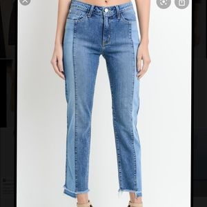 Just black double wash jeans
